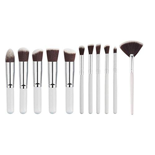 MuSheng(TM) les 11pcs mini brosse brosse +. sourcils trousses + pinceau de maquillage ensembles d'outils (Blanc)