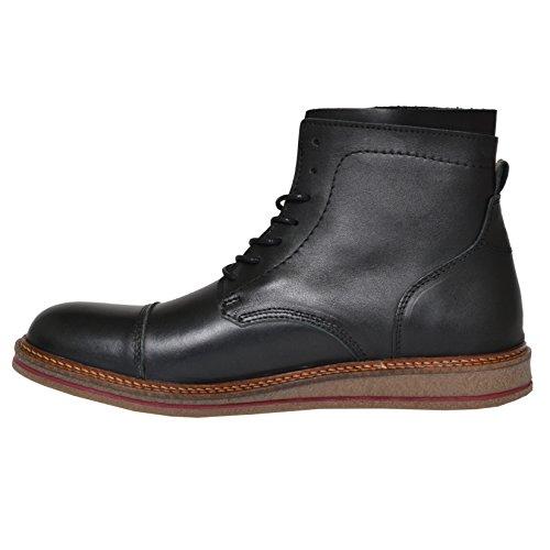SHOOT Shoes Schnürboots - SH216810D | Herren Glatt-Leder Boots mit passenden Schnürsenkeln black 43