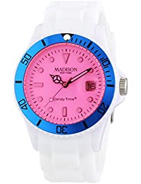 Madison New York analog Snow Festival Pink dial Unisex watch - U4612-05/1