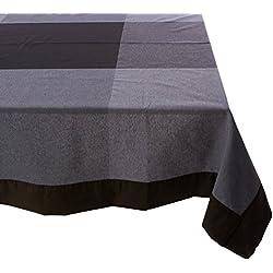 Es-Tela Boston Mantel, Algodón-Poliéster, Negro, 155 x 155 cm
