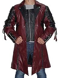 Hollywood Jacket Uomo Goth Matrix trench del cappotto del rivestimento  Steampunk gotica Goth Matrix colore rosso… 593b77e4f1d