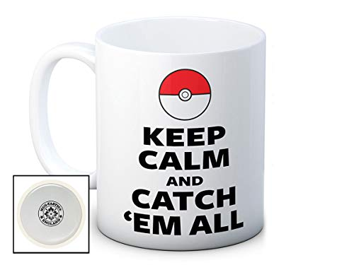 Keep Calm and Catch 'em All - Pokemon - Hochwertigen Kaffee Tee Tasse