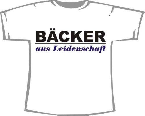 Bäcker aus Leidenschaft; Fun Arbeits- T-Shirt weiß, Gr. XL