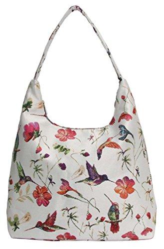 Signare besace sac d'épaule tapisserie mode femme Colibri