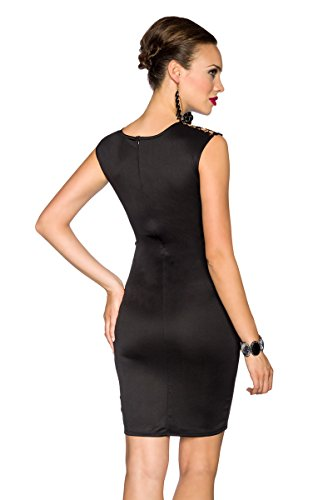 Robe effet sPITZENEINSATZ longueur :  env. 94 cm Noir - Noir