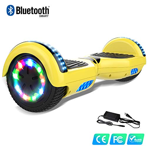 Watson Balance Board électrique 6.5 Pouces Gyropodes Flash LED Smart Scooter avec Bluetooth Auto Equilibré HHHoverboarrrd Self Balancing E-Skateboard 350W * 2