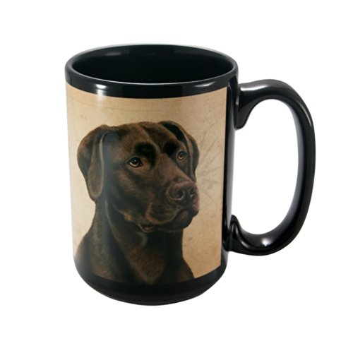 Lab Kostüm Pet - CHOCOLATE LAB Faithful Friend Coffee Cup by Pet Gifts USA
