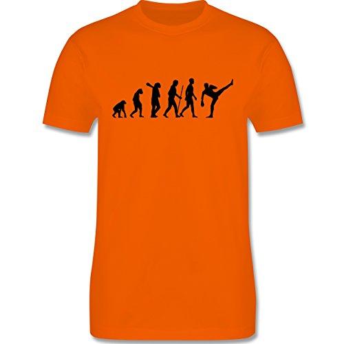 Evolution - Kampfsport Evolution - Herren Premium T-Shirt Orange