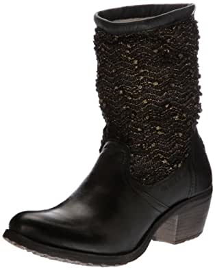 Bunker Ria, Boots femme - Noir (K Black Cooper), 36 EU