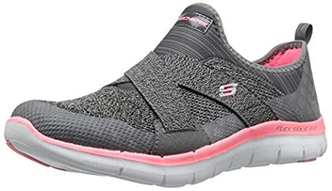 Skechers Damen Flex Appeal 2.0-New Image Sneakers, Grau (Cccl), 39