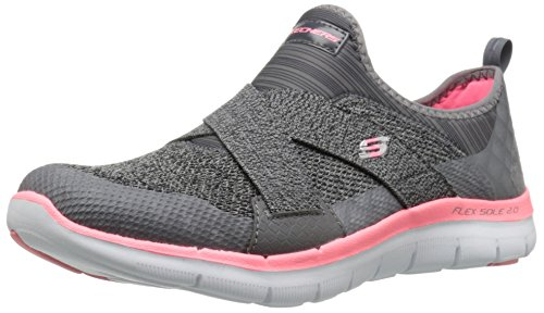 Skechers Damen Flex Appeal 2.0 New Image Sneakers, Grau (cccl), 39 EU (Schuhe Womans Sketcher)
