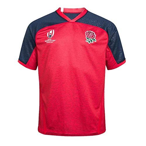 lxy Cos clothing Rugby-spieltrikots Für Herren, England World Cup Home and Away Fußball-Hemd Jersey Herren Kurzarm Red-XXXL