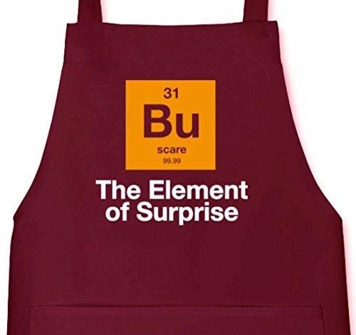 Halloween - The Element Of Surprise, Nerd Grillen Barbecue Grill Schürze Kochschürze Latzschürze, Größe: onesize,Burgund