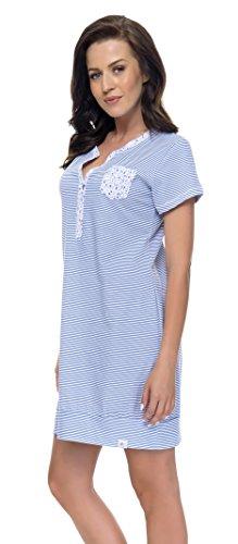 dn-nightwear - Chemise de nuit spécial grossesse - Femme Bleu Marine