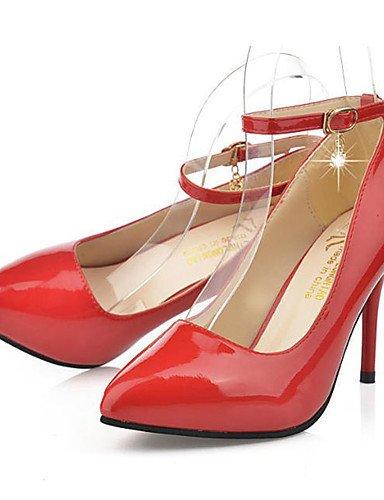GS~LY Damen-High Heels-Lässig-Lackleder-Stöckelabsatz-Absätze-Schwarz / Rot / Weiß black-us6 / eu36 / uk4 / cn36