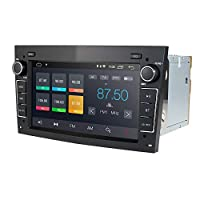 hizpo Android 9.0 7 Inch 2 Din Car Stereo Radio for Opel Vauxhall Holden Antara Astra H Combo Corsa Meriva Signum Zafira Vectra C Vivaro Tigra Bluetooth GPS Navigation DSP (Black)