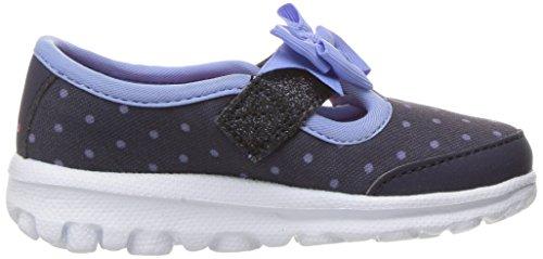 Skechers Go Walk, Sneakers Basses Fille Bleu (Nvlb)