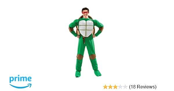 Adult Ninja Turtles Donatello Costume Mens 2nd Skin TMNT Fancy Dress Outfit
