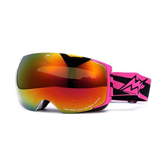 Anti-Fog Ski Skibrille auswechselbare Linse Ski Brille (Farbe : D)
