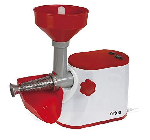 Artus s15 passapomodoro elettrico per passata di pomodoro 300w, bianco/rosso