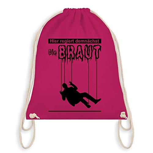 JGA Junggesellenabschied - Hier regiert demnächst die Braut - Turnbeutel I Gym Bag Fuchsia