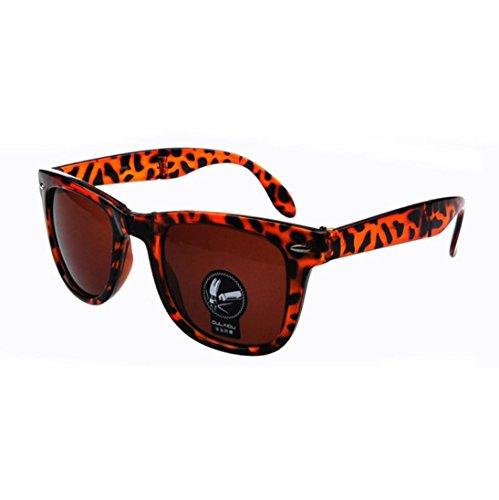 HLHN Herren Damen Vintage Platz Gespiegelte Sonnenbrille Brillen Outdoor Sport Sonnenbrille (Kaffee)
