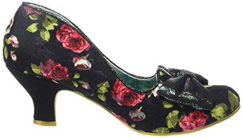 Irregular Choice Dazzles 2nd Razzle, Escarpins femme Noir - Black (Black Floral)