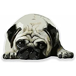 2 x 10cm Cute Pug Dog Sticker Decal Tablet Laptop Gift Animal Tablet Fun #9556