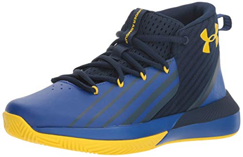 Under Armour UA Bgs Lockdown 3, Scarpe da Basket Bambino, Blu (Academy/Royal/Taxi), 35.5 EU