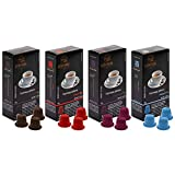 Coffret Découverte - 100 capsules de café compatibles Nespresso ®* - 4 variétés LUSCIOUX