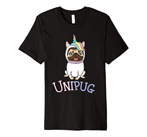 Mops Einhorn Kostüm Mops Art Shirt ()