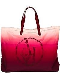 Armani Jeans bolso de mano para compras mujer nuevo bordeaux