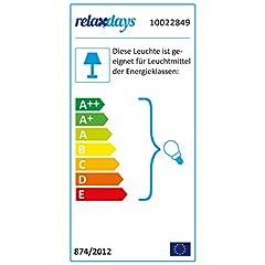 Idea Regalo - Relaxdays 10022849 Lampada da Comodino in Cristallo, da Tavolo a Sfere, Paralume HLP: 41 x 29,5 x 29,5 cm, Chiara/argento
