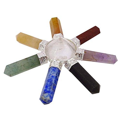 Harmonize 7 Chakra-Pyramide Generator Energie Sakrale Aura Punkte Reiki Healing Kristall Göttliche (Steine Energie, Chakra)