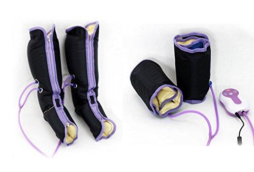 Druckwellen massage-gerät mit 9 intensitätsstufen,luftkompression massage-gerät für waden bein und fuß (Fuß-waden-massagegerät)