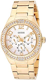 Guess Womens Quartz Watch, Analog Display and Stainless Steel Strap W0729L2