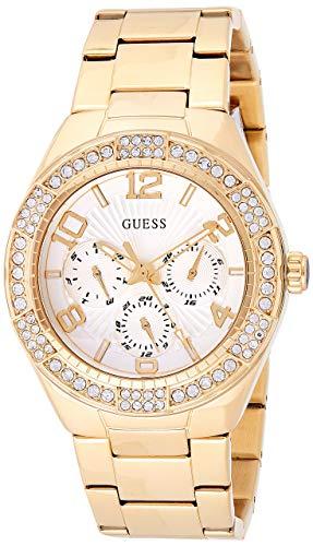 Guess Damen Analog Quarz Uhr mit Edelstahl Armband W0729L2