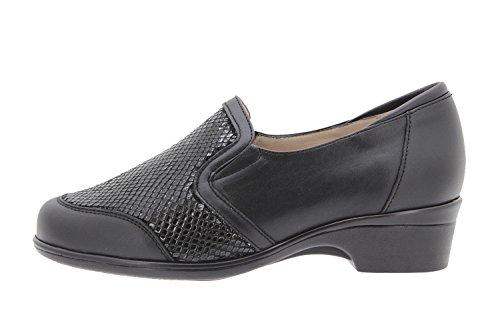 Chaussure femme confort en cuir Piesanto 9614 casual confortables amples Noir