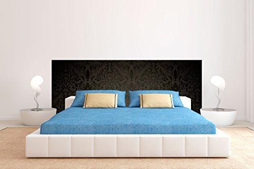 Tête de lit Carton Écologique Texture Noire Vintage | 200x60cm | Disponible en différentes tailles | Tête de lit léger, élégant, résistant et économique