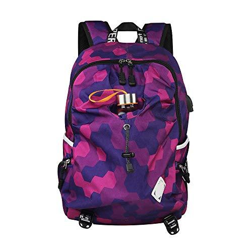 YueLove College Laptop Backpack Water Resistant Anti-Theft Bag with USB Charging Port Hiking Travel Daypacks Moderner Radfahren Wanderrucksack Trekkingrucksack