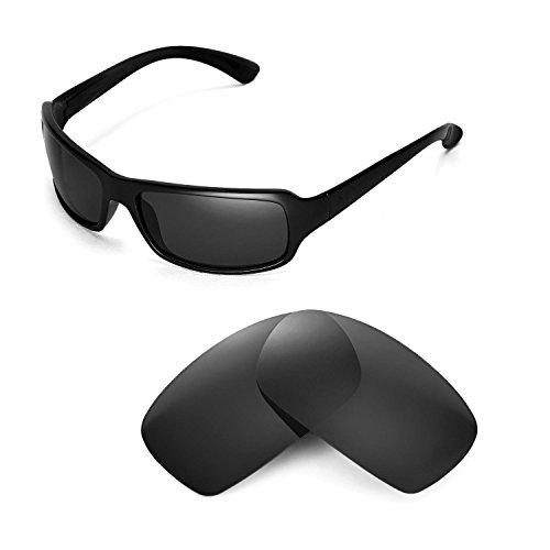 Walleva Ersatzgläser für Ray-Ban RB4075 61mm Sonnenbrille - Mehrfache Optionen (Schwarz - polarisiert)
