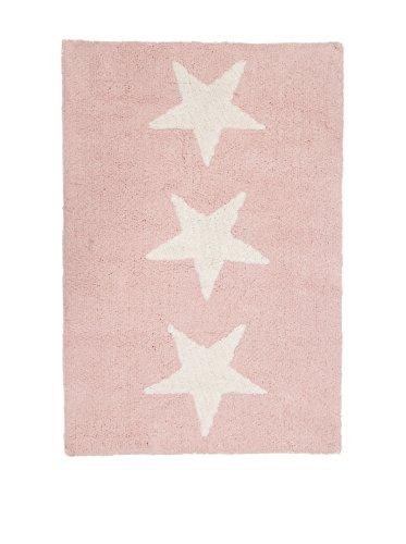 Happy Decor Kids Alfombra Hdk-Three Stars Rosa 120 x 80 cm