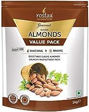 Rostaa Premium Classic Almonds Value Pack, 1000 g (Gluten Free, Non-GMO & Ve