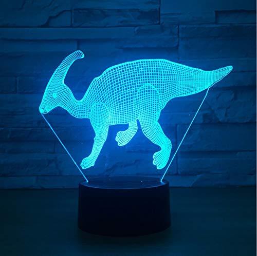 Dinosaurier Modell Illusion 3D Lampe 7 Farbwechsel Touch Usb Led Tier 3D Nachtlicht Lampe Baby Schlafen Licht
