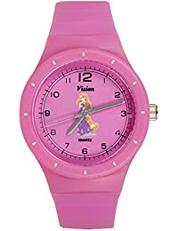 Vizion Analog Hot-Pink Medium Dial (Rapunzel-The Golden Hair Princess) Cartoon Character Watch for Kids-8825-2-2