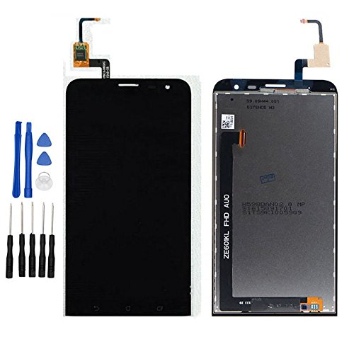 ixuan Pour Asus ZenFone 2 Laser ZE601KL Z011D Vitre Tactile Ecran LCD Assemblé ( Non Châssis ) de Remplacement (Noir)