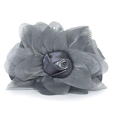WZW Donna Poliestere / Chiffon Formale / Casual / Serata/evento / Matrimonio / Ufficio e lavoro / Shopping Borsa da sera . black gray