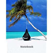 Notebook: Lined Notebook Journal - Blue Ocean Watercolor - 120 Pages - Large (8.5 x 11 inches)