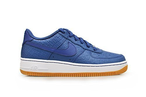 nike air force 1 (GS) scarpe sportive 596728 scarpe da tennis, Blu Legend Bianco, EU 39