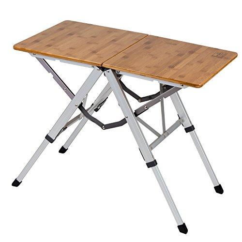 Bo Camp Urban Outdoor 1404660 Campingtisch Richmond Klapptisch Garten Tisch Falttisch Klappbar Alu Bambus